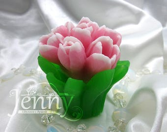 Bouquet of Tulips - silicone mold for soap