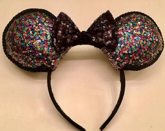 Multi-Color Sequin Disney Ears