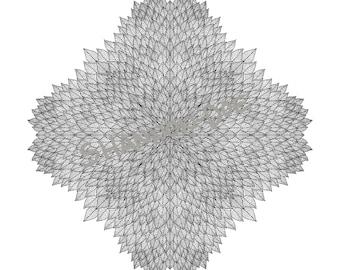 New Leaf - Printable Digital Mandala Coloring Book Page Drawing Instant Download | Bullet Journal, BuJo, Stress-Free