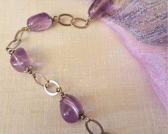 Bracelet in Silver 925 with natural Amethyst