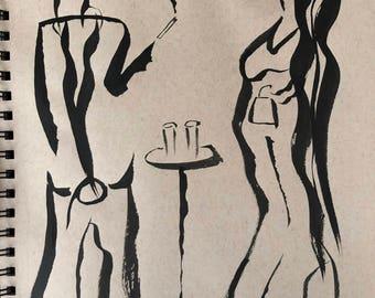 Ink Sketch - 'Roppongi Night'