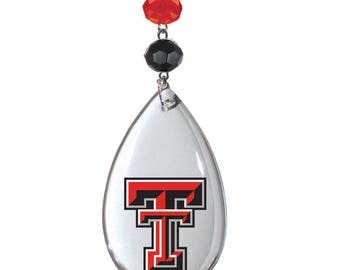 TEXAS TECH University Red Raiders *Logo Crystal MAGNETIC Ornament,Red Raiders,Texas Tech,Red Raiders Football,Ttu,Texas Tech Ornmaments