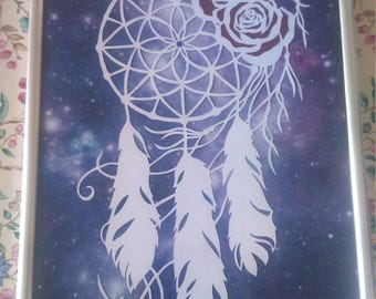 handcut dreamcatcher papercut SALE