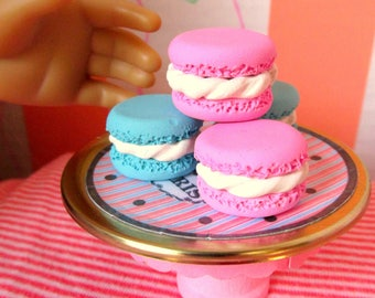 American Girl Food French Macarons 18 Inch Dolls Bakery Paris French Doll Food Grace Thomas Accessories Miniature Doll Dessert Sweets Shop