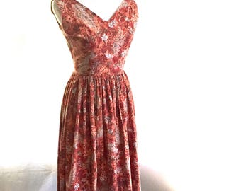 1950's Floral Day Dress