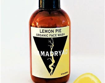 LEMON PIE ORGANIC face wash~face cleanser~gel cleanser~facial wash~organic skin care~skin care~face cleansers~face treatment~brightening