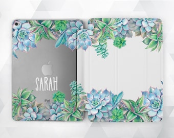 Smart Cover iPad Monogram iPad Air iPad Mini Case iPad Pro 9.7 Floral Custom iPad Case Floral iPad Air  iPad Mini iPad Pro Clear Floral Case