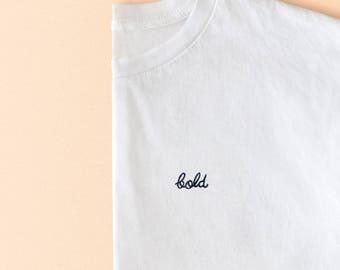 Bold embroidered unisex t-shirt | By Santé
