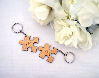 Couple Keyrings - Mr and Mrs, Mr and Mr, Mrs and Mrs - Couple Gift