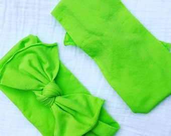 Tiny Vibes Lime Green MAXI Bows