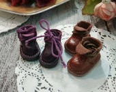 Blythe boots, vintage shoes , dolls shoes, real leather: shoes