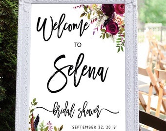 Bridal shower sign, Printable Bridal Shower Welcome Sign, Bridal Tea Sign, Baby Shower sign, Bridal Shower decoration, Bridal Brunch Sign #9