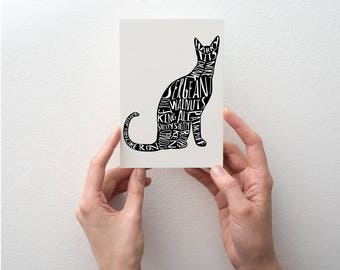Bob Mortimer's 'Sergeant Walnuts' Twitter cat names greetings card, help Cats Protection with your donation