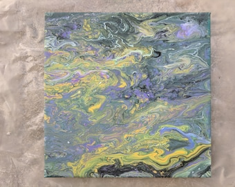 Abstract Painting - Acrylic Paint Pour 10' x 10'