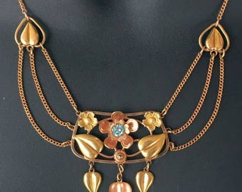Louis Stern Gold Filled Art Deco Necklace, L.S.Co