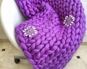Chunky Knit Blanket. Throw blanket. Large blanket. Giant knit. Chunky knit blanket. Giant knit blanket. Merino wool. Cozy blanket.