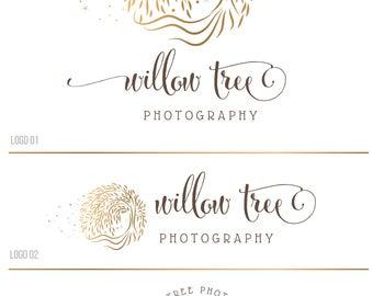 Photography logo and watermark, WillowTree logo, Nature logo, Small business logo, Custom Logo design, Premade logo Premade branding kit 149