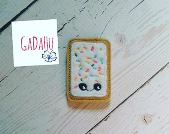 Pop-Tart/Poptart feltie. Embroidery Design 4x4 hoop Instant Download. Felties