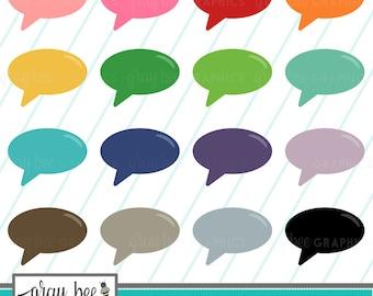 SALE! Speech Bubble-Word Bubble-Clipart Set, Commercial Use, Instant Download, Digital Clipart, Clip Art, Planner Clip Art- MP233