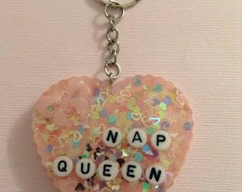 Nap Queen Keychain