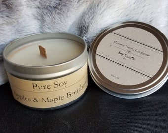 Apples & Maple Bourbon Pure Soy Candle