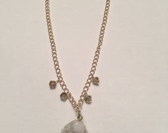 Sparkly White Druzy Necklace