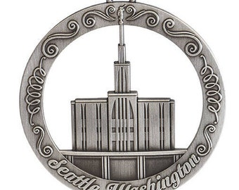Seattle Washington LDS Temple Ornament