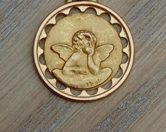 Vintage gold Ange Medal