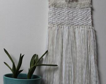 Woven wall hanging / tapestry / monochrome / wall hanging / wall art / minimalist / boho / wedding