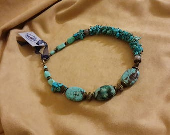 Necklace with turquoise and Jasper