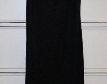 Vintage Spaghetti Strap Black Dress