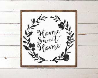 Home Sweet Home Wood Sign - Home Decor - Wood Signs - Wooden Signs - Wall Decor - Wall Art - Custom Wood Signs - Wall Decor - Home