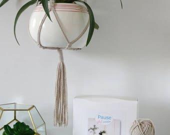 Kit DIY (do-it-yourself) macrame natural wall hanging