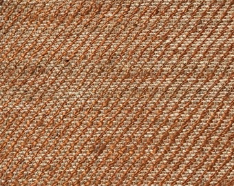 Rayon Jute Accent Rug 100% Natural