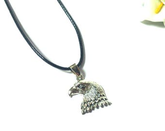 Necklace Silver Eagle - Necklace Silver Pendant Bird - Necklace Animal - Leather Necklace - Necklace for Men - Necklace for Women