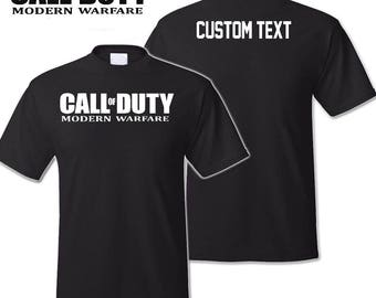 Call of Duty MW Shirt With Custom Name Tag