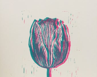 Layered tulip greetings card