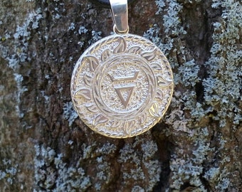 Veles symbol Pendant. Slavic jewelry. Slavic talisman. Pagan jewerly. Ethnic amulet. Ancient jewerly.