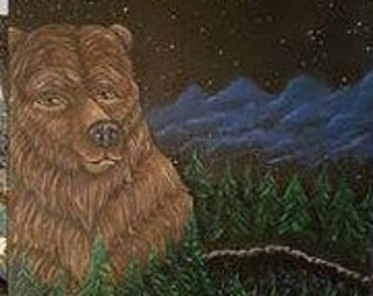 Bear Mountain Original Canvas Painting