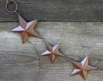 Star Tin Garland, Rusty Star Garland, Primitive Decor, Farmhouse Decor, Craft Supplies, Party Supplies, Primitive Craft Supplies