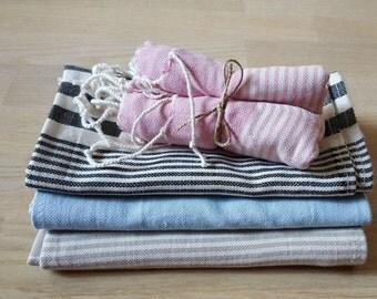 Turkish Towel Peshtemal/home decor, Hand Towel Peshkir Natural Cotton Towel Baby Towel Bridesmaid Gift Tea Towel Bath SPA Towel  Fouta
