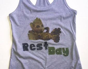 "Women's ""Groot Rest Day"" tank top"