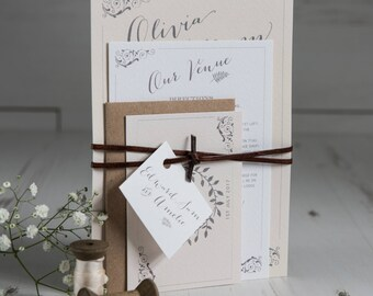 Amelie Wedding Invitation