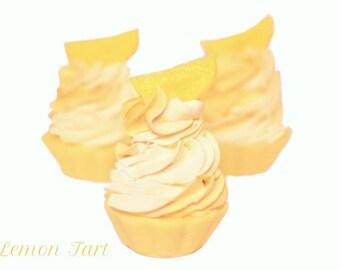 Lemon Tart - Artisan Soap Cupcake