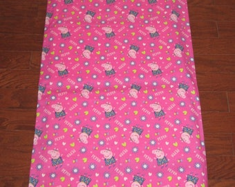 Peppa Pig Nap Mat Cover with Matching Pillow Cover