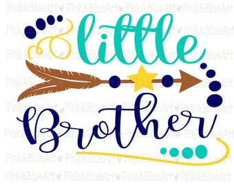 Little Brother SVG Clipart Cut Files Silhouette Cameo Svg for Cricut and Vinyl File cutting Digital cuts file DXF Png Pdf Eps