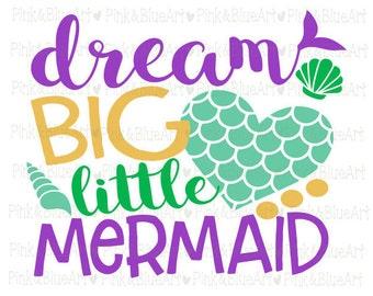 Mermaid svg - Little girl svg - Baby girl svg - Svg for girls - Mermaid tail - Mermaid birthday - Little sister svg - SVG DXF Png Pdf Eps