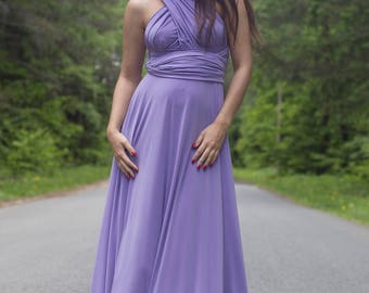 Lavender Bridesmaid dress, lavender convertible dresses, lavender infinity dress, lavender multiway dress, lavender maxi dress, lavender