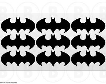 Batman Stickers - Batman Birthday Stickers, Batman Logo Stickers (ST005)