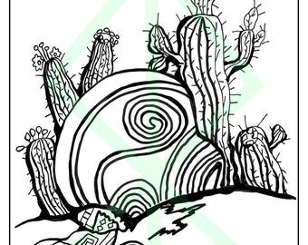 southwest coloring pages - desert coloring book etsy